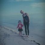 Maya & Mommy at the beach